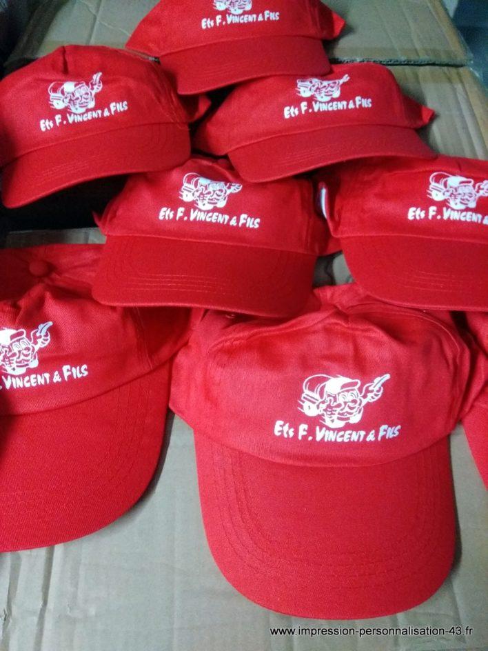 casquettes serigraphiées